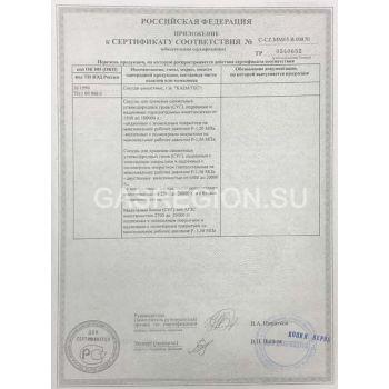 Сертификат на газгольдер Kadatec 2.