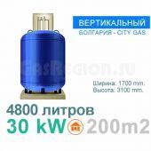 Вертикальный газгольдер на 4800 литров. Болгария.