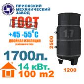 1700 литров - вертикальный газгольдер Приокского механического завода.