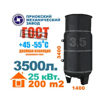 3500 литров - вертикальный газгольдер Приокского механического завода.